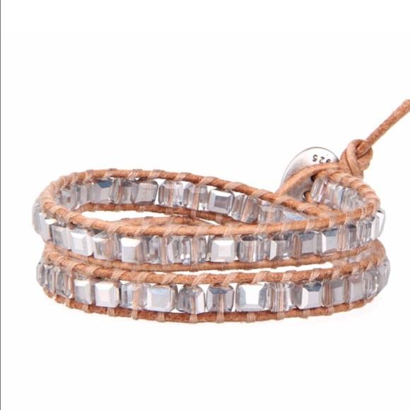 nouveau concept magasiner pour l'original meilleur prix pour Sale Chan Luu Quartz Crystal Leather Wrap Bracelet NWT