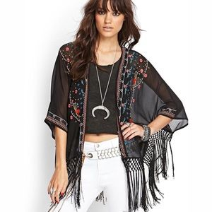 Forever 21 Tops - Embroidered kimono!