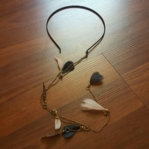 Accessories - Feather Chain Headband