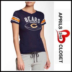 Boutique Tops - ❗️1-HOUR SALE❗️CHICAGO BEARS TEE Lace Burnout Top