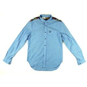 Fred Perry Other - FRED PERRY Long Sleeve Plaid Trim Cotton Shirt