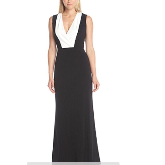 Calvin Klein Dresses Hp Nwt Black White Sequin Gown Poshmark