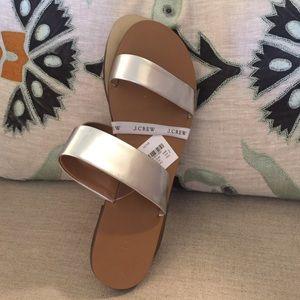 Silver Strap Sandals