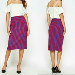 Dresses & Skirts - Striped Midi Skirt