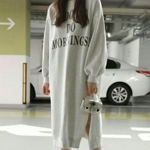 "Dresses & Skirts - ""I DON'T DO MORNINGS"" SWEATSHIRT DRESS"