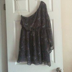 One arm flowy dress