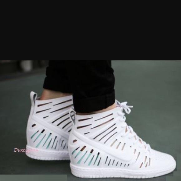 new style 76eb2 c0ae8 ... nike shoes nike dunk sky hi 2.0 joli white hidden wedge 9 new ...