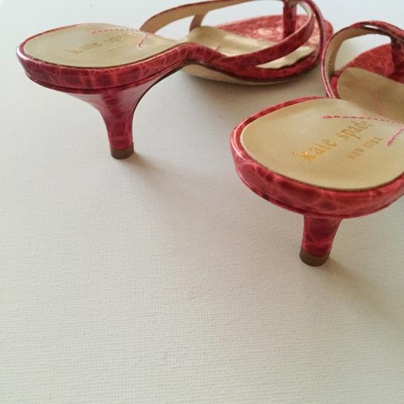 kate spade Shoes - Kate Spade Fuchsia Embossed Mule Sandals