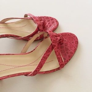 kate spade Shoes - Kate Spade Fuchsia Embossed Mule Sandals