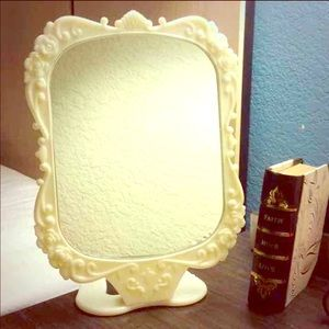 Other - Japanese Brand Rose Mirror w/Stand Ivory