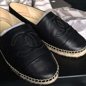 SOLD!!! Chanel Espadrilles (Black)