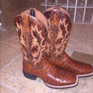 217949dbfd6 Men's Ariat Quantum Full Quill Ostrich Boots