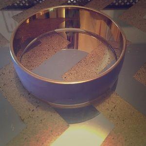 J.Crew Lavender And Gold Enamel bracelet