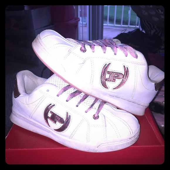 Phat Farm Shoes Phat Farm Sneakers White With Pink Rhinestones Poshmark