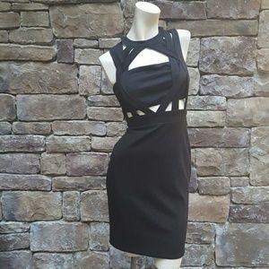Black Cutout Bodycon Dress