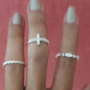 Set of 3 Knuckle Rings