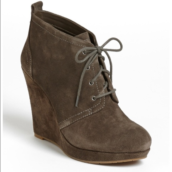75ac4dcd178f Jessica Simpson Shoes - Jessica Simpson suede Catcher wedge booties