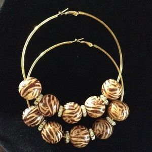 "Large Gold 3.5"" Basketball Wives Inspired Earrings"