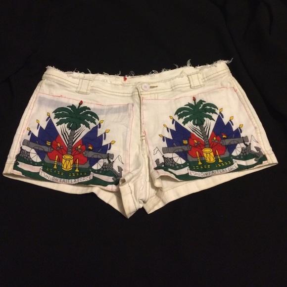 Shorts Haitian Flag Inspired Short Poshmark