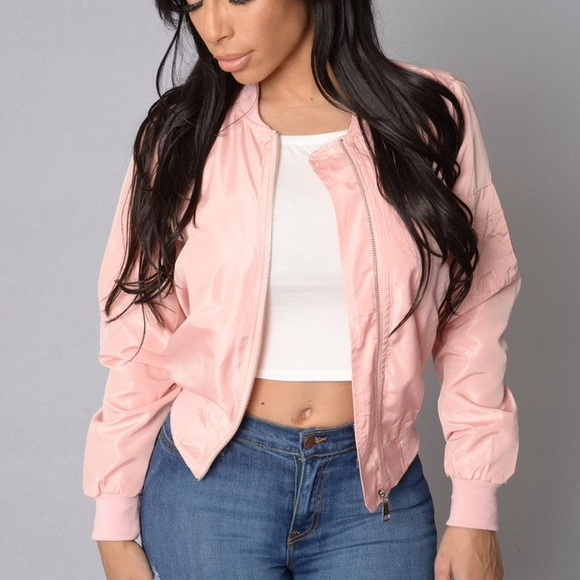 nothing - Blush/Pink Bomber Jacket from Gisel's closet on Poshmark