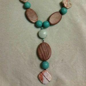 Incredible genuine gemstone statement necklace