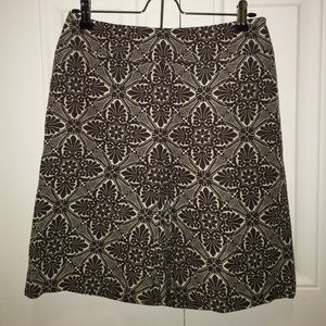 FINAL SALE! Loft Brown and White A-line Skirt