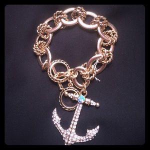 J. Crew Jewelry - Beautiful anchor charm bracelet