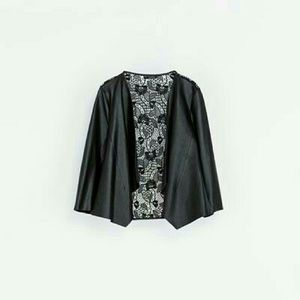 Sale! Zara guipure faux leather jacket