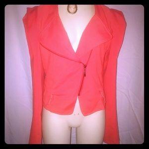 zinga Jackets & Blazers - Zinga Sz L Asymmetrical Crop Zipper Front Blazer