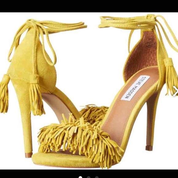751a5f64a2a ❌❌SOLD❌❌Steve Madden yellow fringe heels