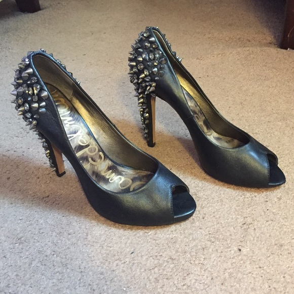d89a163fe54079 Sam Edelman Shoes - Sam Edelman Lorissa Studded Open Toe Pumps