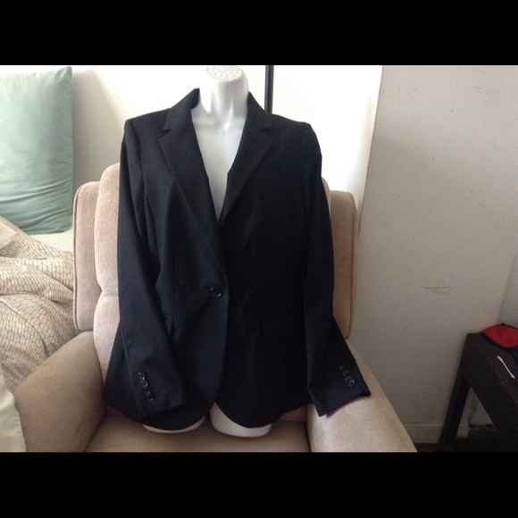 Lands end jackets amp coats lands end black tuxedo jacket sz 8