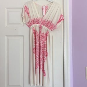 Dresses & Skirts - Pink Patterned Summer Dress