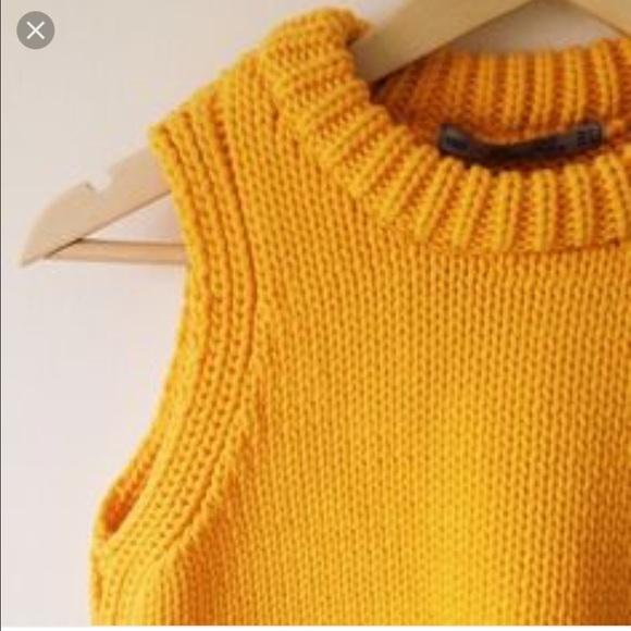 Zara - zara yellow sleeveless sweater vest from Sarah's closet on ...