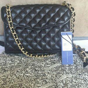 Rebecca Minkoff Mini Quilted Affair Bag in Black