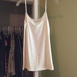 Loft white lace tank top