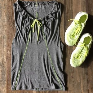 Ellie Tops - NWOT Ellie charcoal gray workout coverup tank