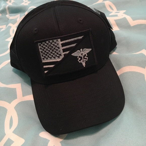 Black EMS Velcro patch tactical hat 7557969a5ef