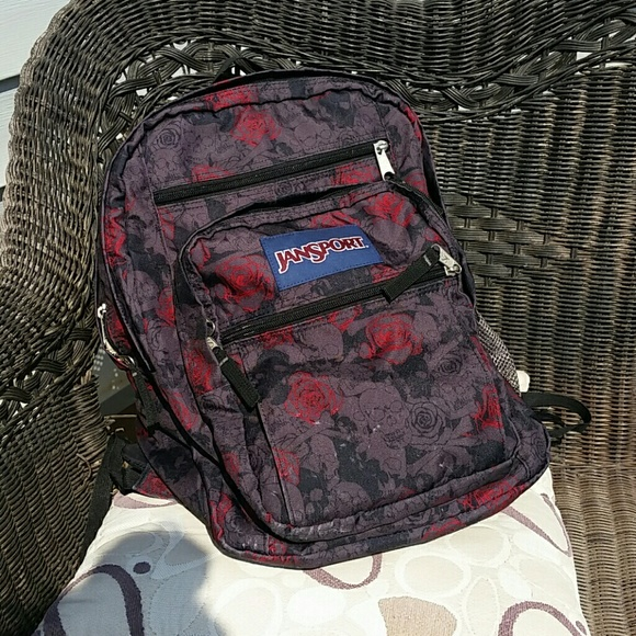 Jansport Handbags -  saleJansport skull and roses big student backpack 2abe380489ba7