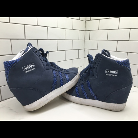 e8c147bccb8 Adidas Shoes - Adidas Originals Basket Profi Up Wedge Sneakers