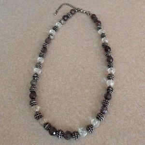 Glass beaded adjustable necklace! Unisex!