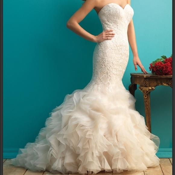 Allure Dresses | Wedding Dress 9254 Bright Ivory Sz 610 | Poshmark