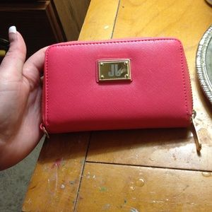 Coral and gold wallet