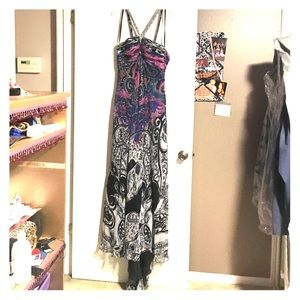 Used, Beaded A line gown with train for sale