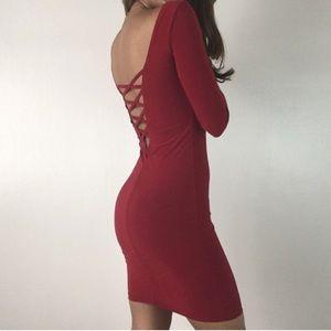 The Burgandy XX Dress