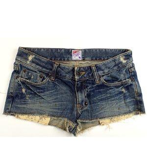 Prps Pants - PRPS STT Denim Mini Shorts  Jean R47P38B Size 27