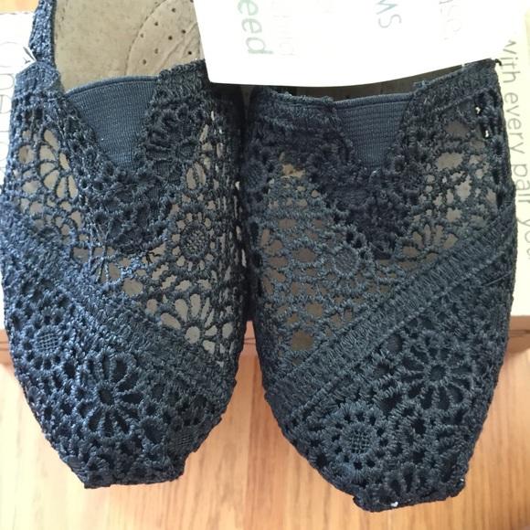 TOMS Shoes - TOMS Classic Black Morrocan Crochet Flats