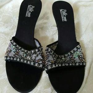 Pelle Moda slides heels sandals size 7