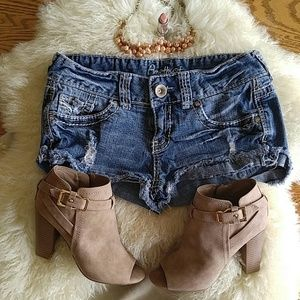 Amethyst Pants - amethyst//jean shorts