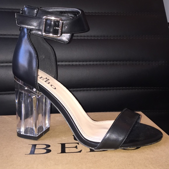21094c87f1 Boohoo Shoes | Laura Clear Block Heel Two Part | Poshmark